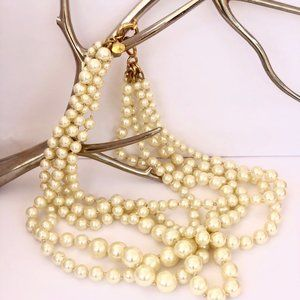 JCREW Five Strand Pearl Necklace - Great Condition